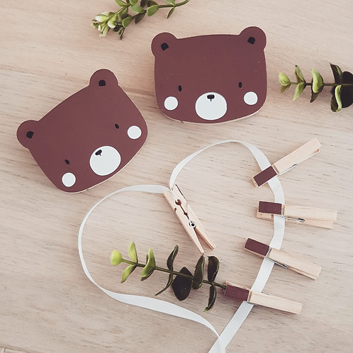 WALL GALLERY - BEAR + BEAR (brown)