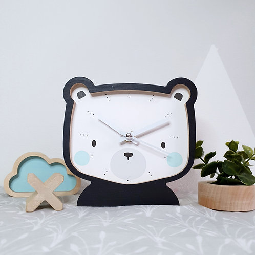 CLOCK - BEAR (black)