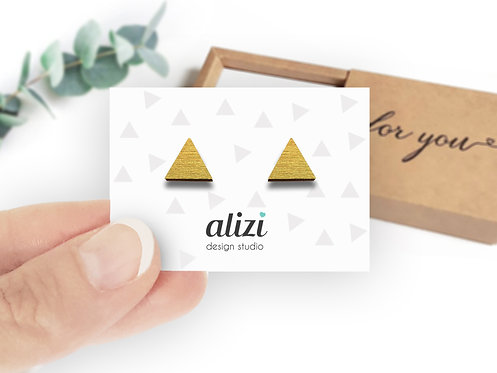 Earrings - Triangles- Gold