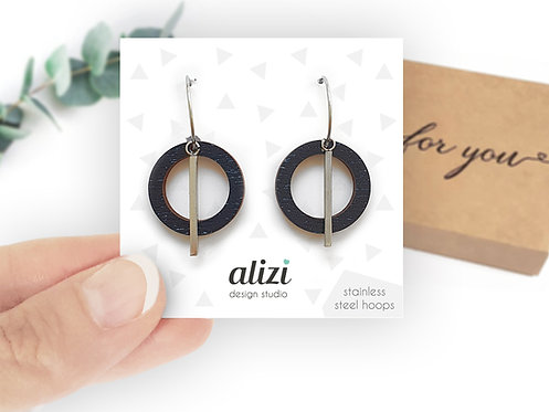 Hoops - Small Rings - Black
