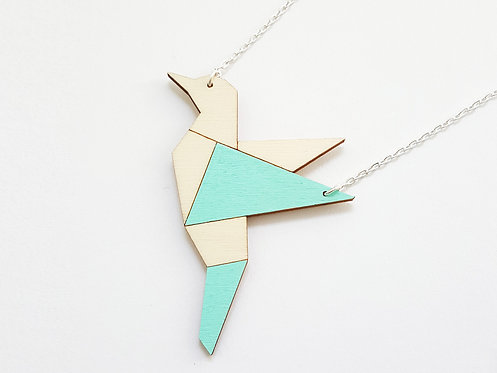 ALIZI.PLAYWOOD Pendant - bird - mint