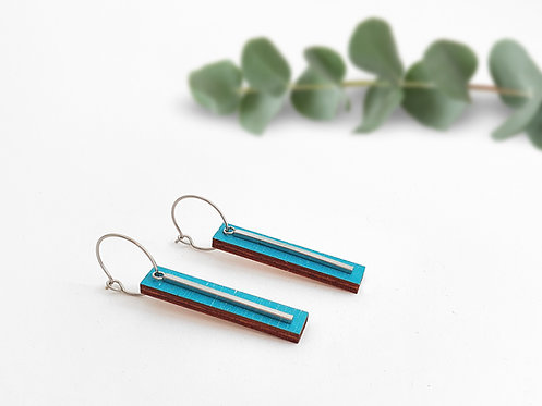 Hoops - Large Bars - Turquoise