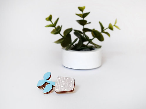 MINI Brooch - Young Plant - Mint