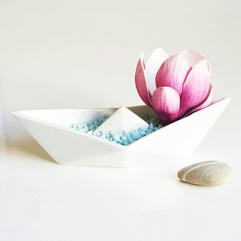 Alizi Porcelain Origami Paper Boat