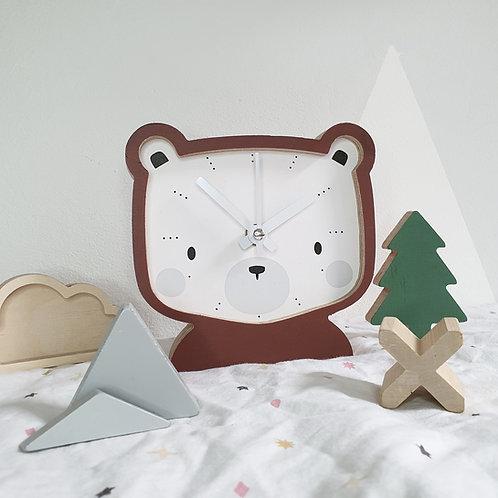CLOCK - BEAR (brown)