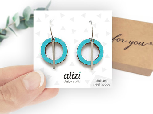 Hoops - Small Rings -Turquoise