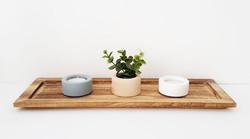 ALIZI.STACK wooden tea candle holder