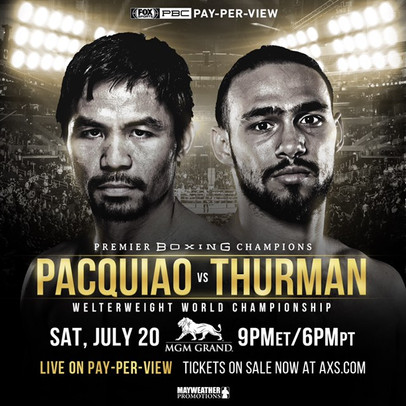 #PacquiaoThurman - July 20 at the MGM Grand Garden Arena