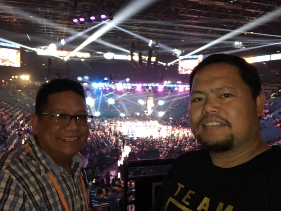 PHLV Radio's Gilbert Glorioso and Jay Rivera covering the #PacquiaoThurman