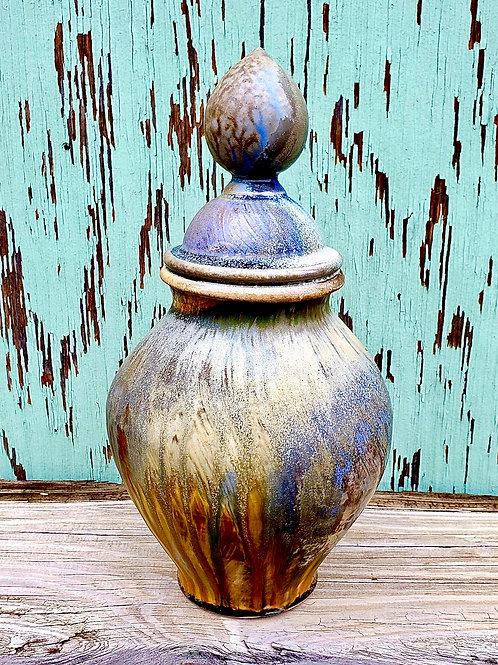 """14"""" wood fired urn"""