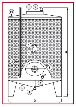WINEMAKING CONTAINERS DRAWING SEDIMENT R