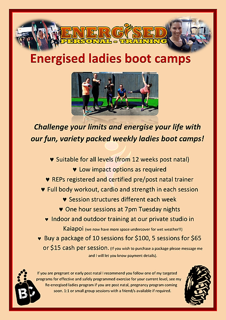 Energised ladies boot camps poster.png