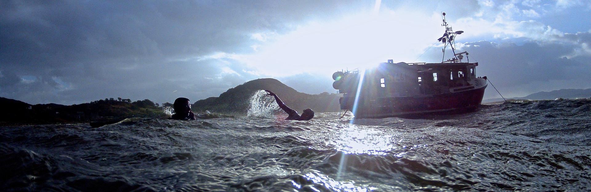 Wild swimming, Sound of Jura