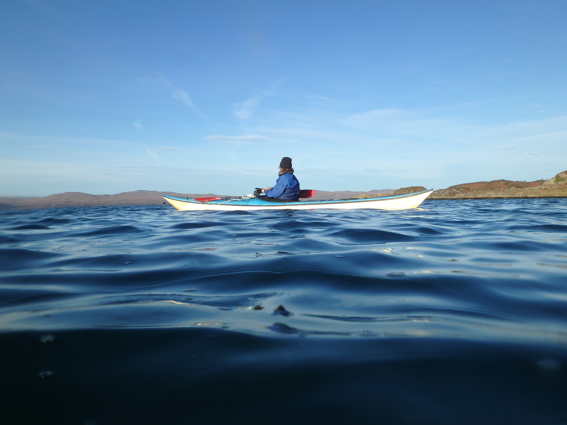 Kayaker in the Sound of Jura