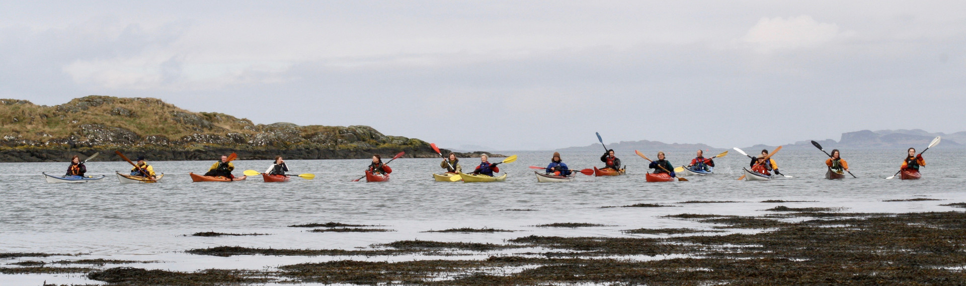 Kayakers at Dounie, Sound of Jura