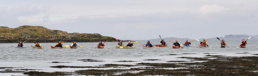 Kayakers at Dounie, Sound of Jura
