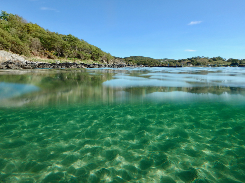 Pristine waters of the Sound of Jura