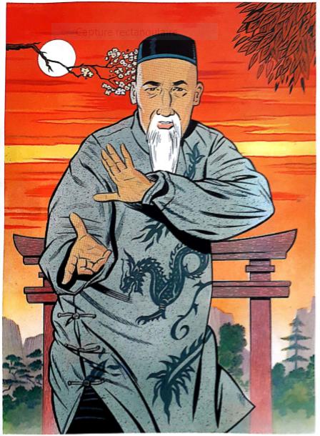 Yang Luchan, illustration Mick Brownfield