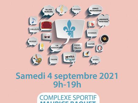 Rendez-vous au Carrefour des associations de Chelles ce samedi 4 septembre !