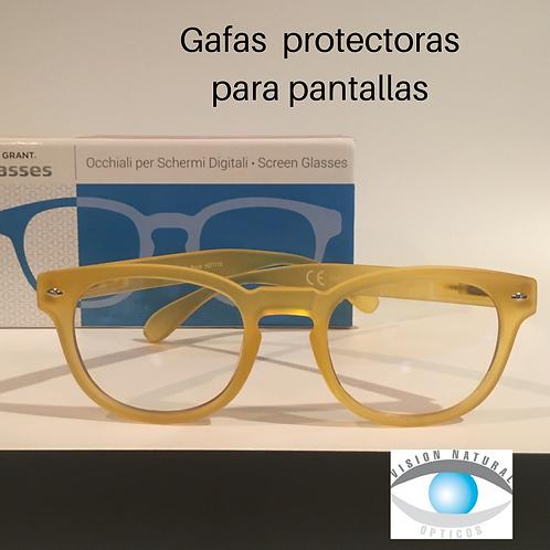 Gafa para protección de pantallas digitales