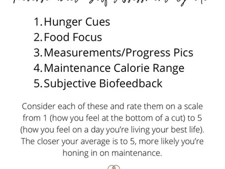 Reverse Diet Self Assessment Guide