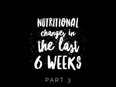 Part 3 of My Nutritional Changes!