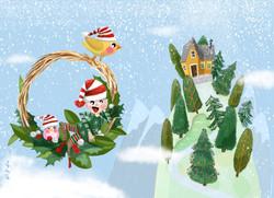 Natale_Cartolina_Guirlanda