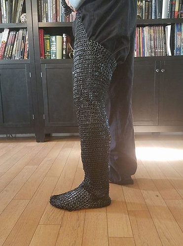 Riveted Chainmail Chausses (Pair, SCA Armor)