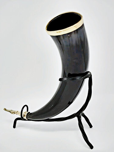 Viking Drinking Horn with Viking Finishes