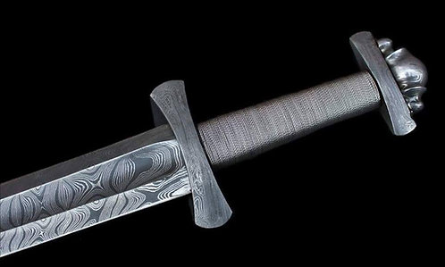 Custom Handmade Damascus Steel Viking Sword