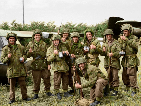 (some really awesome pictures) Incredible colour snaps bring World War II to life and reveal the bra