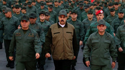 Maduro goes on a walk with all his bodyguards, that he totally doesn't need
