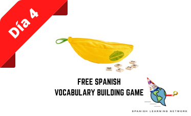 Eight days of Giveaways: Day 4 - Free Spanish Vocabulary Game!