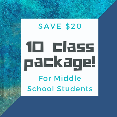 Discounted package: Ten 60 min Online Spanish Classes for Middle School Students