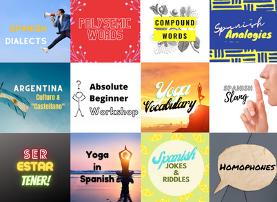 Announcing 12 New Spanish Workshops!