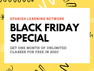 Black Friday Special: One month of free Spanish classes!