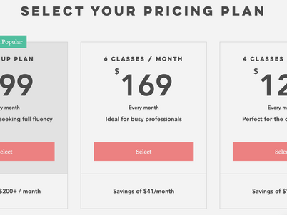 Learn Spanish FAST with one of our 3 NEW pricing plans!