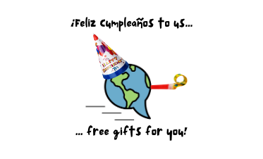 ¡Feliz Cumpleaños to us! (And a free Spanish assessment for you!)
