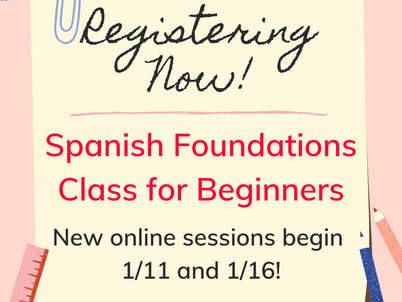 """Don't know """"Hola"""" from """"Adiós?"""" Spanish Foundations for beginners starts next week!"""