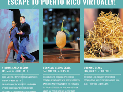 Escape to Puerto Rico this Weekend - Virtually!