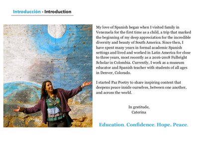Introducing Paz Poetry: An inspiring new Spanish learning resource!