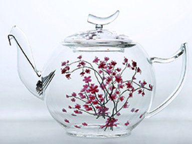 Tea Logic  קנקן תה דגם פריחת הדובדבן