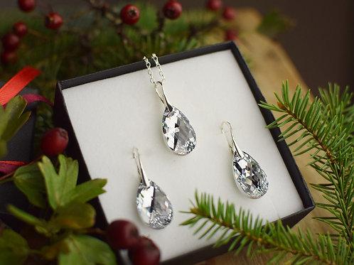 ICECOMET Swarovski Crystal Argent Earrings