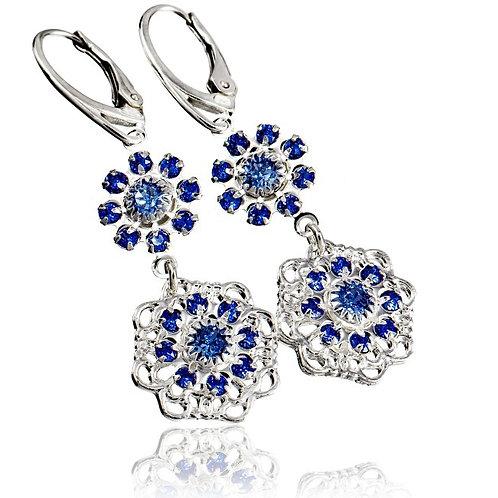 SAPPHIRE FLOW Swarovski Crystal Earrings
