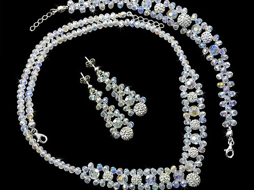 PAOLA Shamballa with Swarovski Aurore Borealis Crystal Set