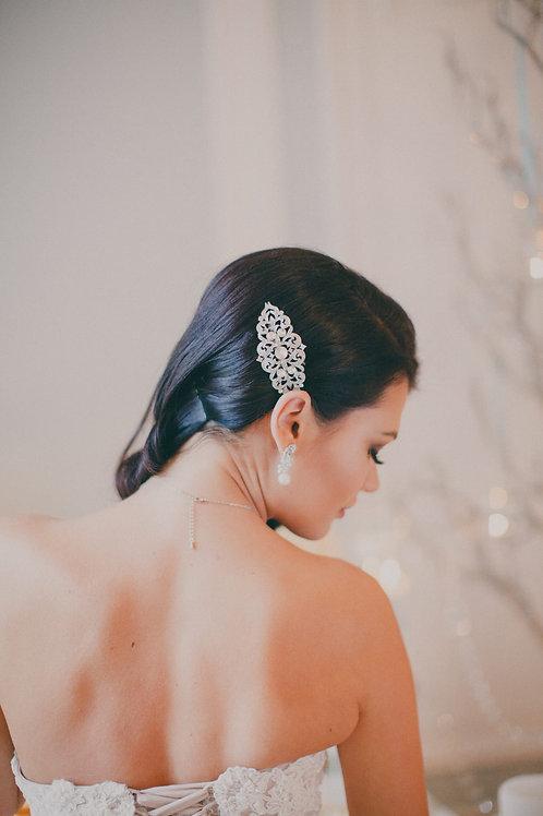 CATRINE Vintage Openwork Crystal Bridal Hair Comb