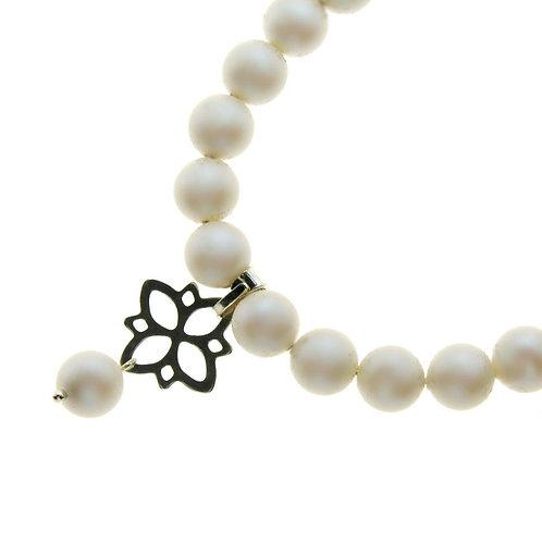 LETTY Ecru Pearl Swarovski Necklace