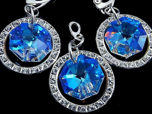 AURORA BLUE Swarovski Crystal Set