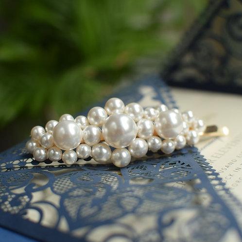 DESTINY Big Wedding Swarovski White Pearl Big Hair-pin Appliqué