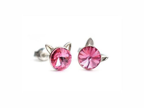 KITTY Rose Rivoli Swarovski 0.6 cm Earrings